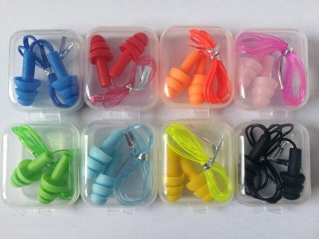 4 個ボックス満載の快適耳栓ノイズ低減耳栓 pvc ロープ耳栓保護水泳用睡眠