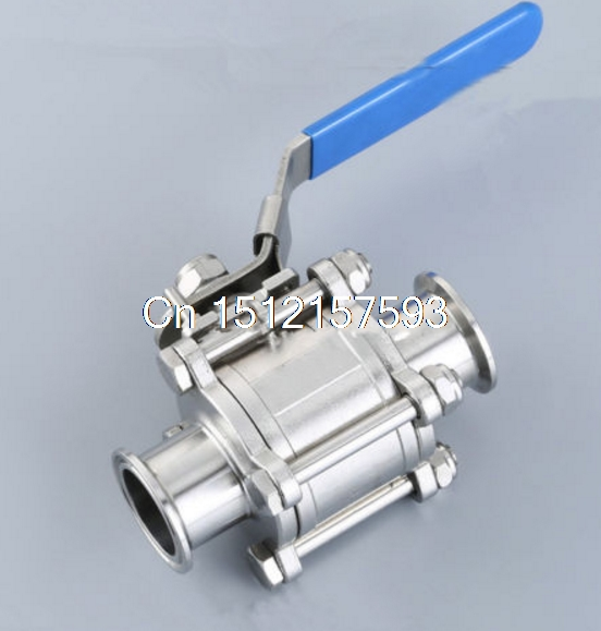 1pcs 1.5 OD:38MM Sanitary stainless steel 3 Piece Triclamp ball valve SS304 1 5 sanitary stainless steel ss304 y type filter strainer f beer dairy pharmaceutical beverag chemical industry