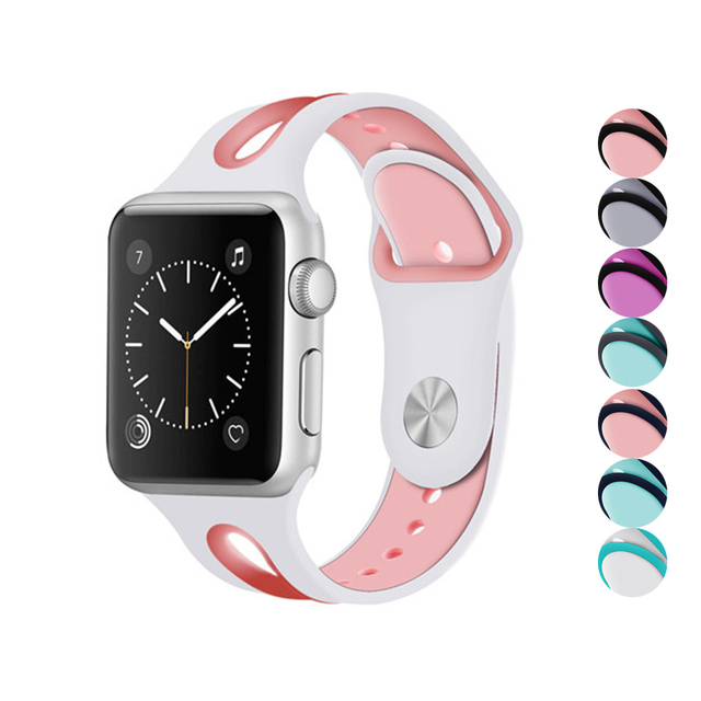 Sport strap For Apple watch 4 Iwatch bands 44mm 40mm Silicone bracelet  wrist belt Rubber Clock watchband 111c28b11118