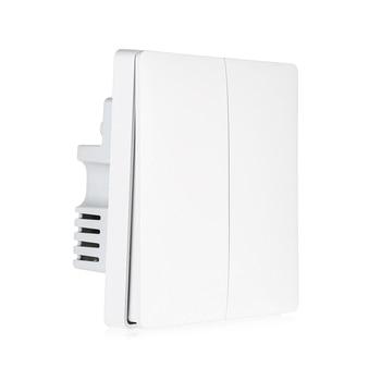 Aqara Inteligente Interruptor de Parede De Controle De Luz ZigBee Sem Fio Conexão De Fio De Fogo E Linha Zero Chave Dupla Versão|Interr.| |  -