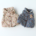 0 - 1 - 2 - 3 espessamento colete outono e inverno bebê outono e inverno espessamento colete outerwear de algodão acolchoado jaqueta de coelho