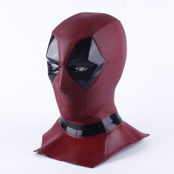 Deadpool 2 Marvel Deadpool หน้ากากฮาโลวีนคอสเพลย์ Props ภาพยนตร์ Superhero หน้ากากของเล่นสะสม Full Face Mask