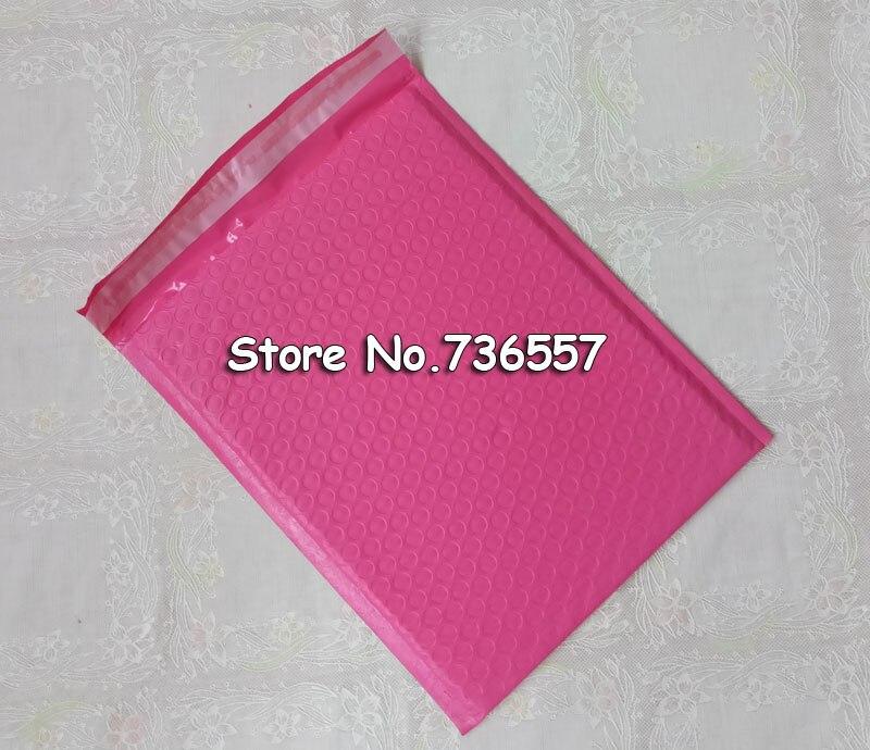 ピンク赤みがかっ 6.5 × 9 インチ/165 × 229 ミリメートル使用可能なスペースポリバブルメーラー封筒 18.5*23 センチパッド入り郵送袋自己シール 100 ピース  グループ上の オフィス用品 & 学用品 からの 紙封筒 の中 1