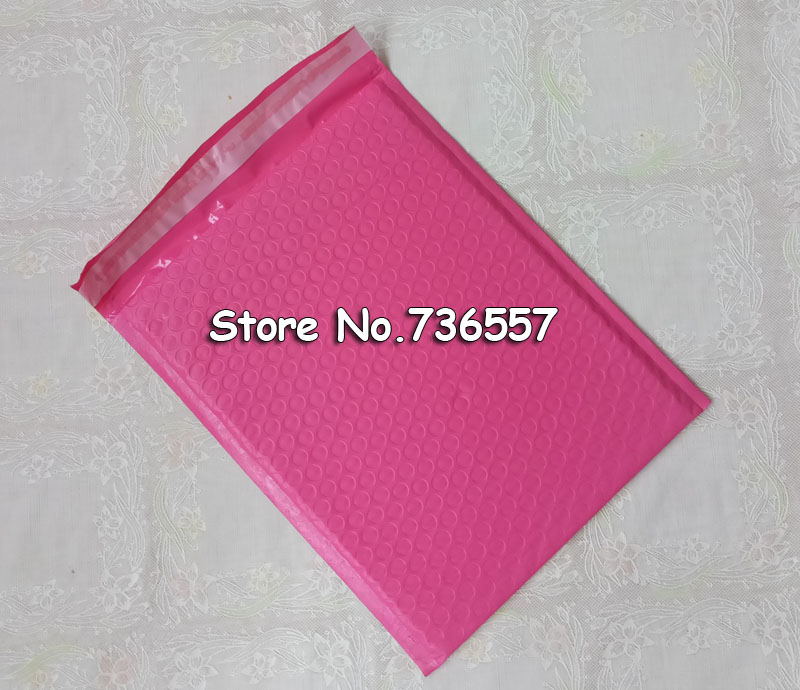 Pink Redish 6.5X9inch / 165X229MM Usable Space Poly Bubble Mailer Envelopes 18.5*23cm Padded Mailing Bag Self Sealing 100pcs