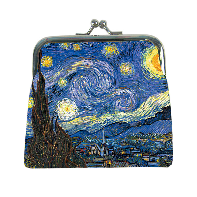 The Starry Night DIY wallet female sublimation printing picture custom made designer change purse coin purse