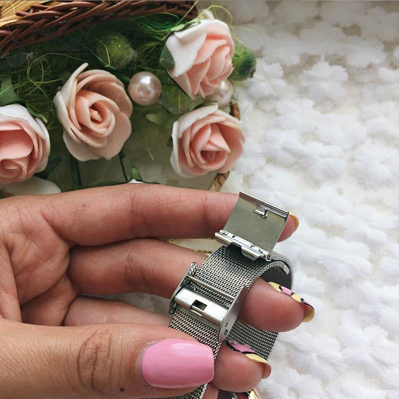 SK 2017 New Women's Bracelet Watches Clock Luxury Brand Quartz Wristwatches Fashion Stainless Steel Watchband Strap Watch Hours 6