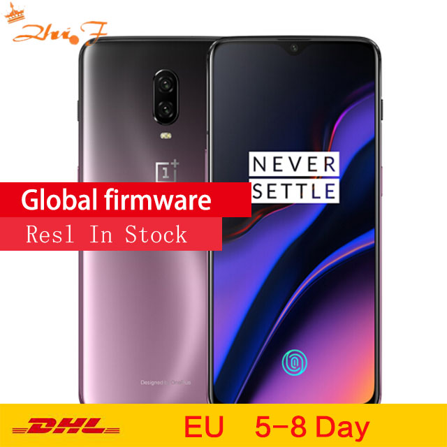 Original Oneplus 6T Mobile Phone 6/8GB RAM 128/256GB ROM Snapdragon 845 Octa Core 6.41 Dual Camera Screen Unlock NFC Cellphone