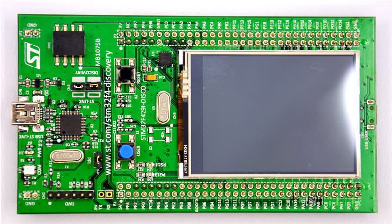 US $42 8 |STM32F429I DISCO Embeded ST LINK/V2 STM32 Touch Screen Evaluation  Development Board STM32F4 Discovery Kit STM32F429-in Demo Board from