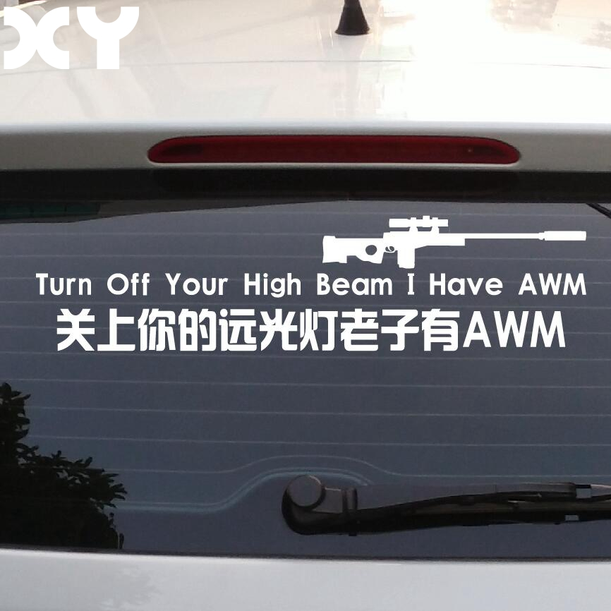 Us 4 29 19 Off Car Stickers Against High Beam Decals Car Styling Decals Waterproof Reflective Type Funny Vinyl Car Rear Window Stickers In Car
