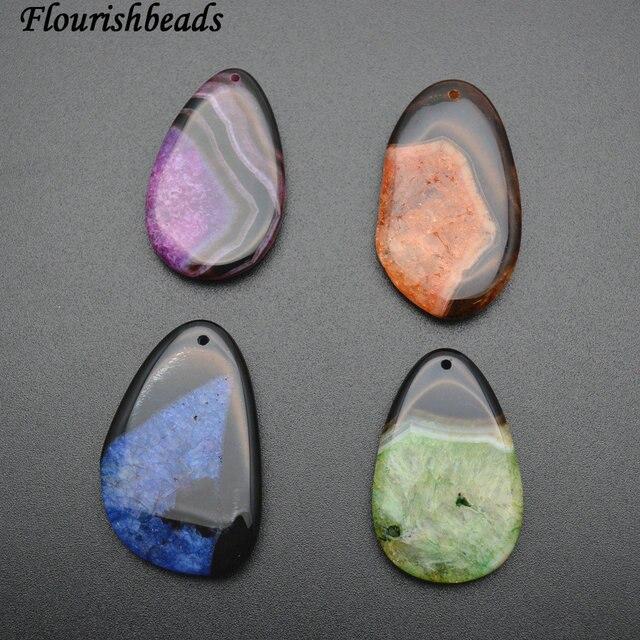 66bc563b1026 Color brillante Druzy cuarzo ágata piedra colgante DIY collar haciendo  (Fushcia azul naranja