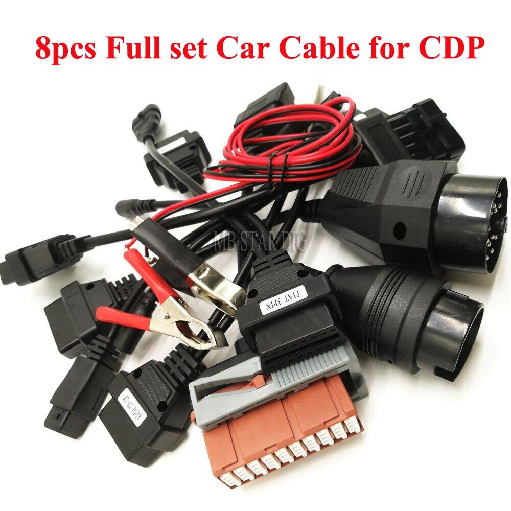OBD2 Câbles ensemble complet 8 pc câbles de voiture pour TCS CDP Pro Plus Outil De Diagnostic Interface pour bmw 20 broches câble pour ds15o