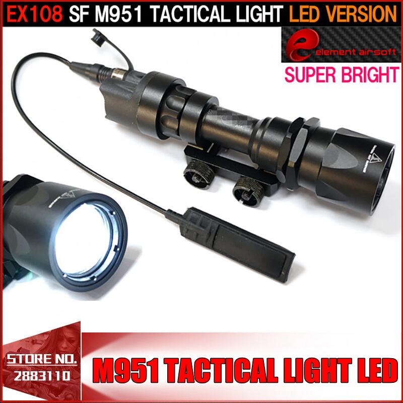 Element SF M951 Tactical Light LED Version Super Bright Flashlight With Remote Pressure Switch Controller Hunting Lights EX108