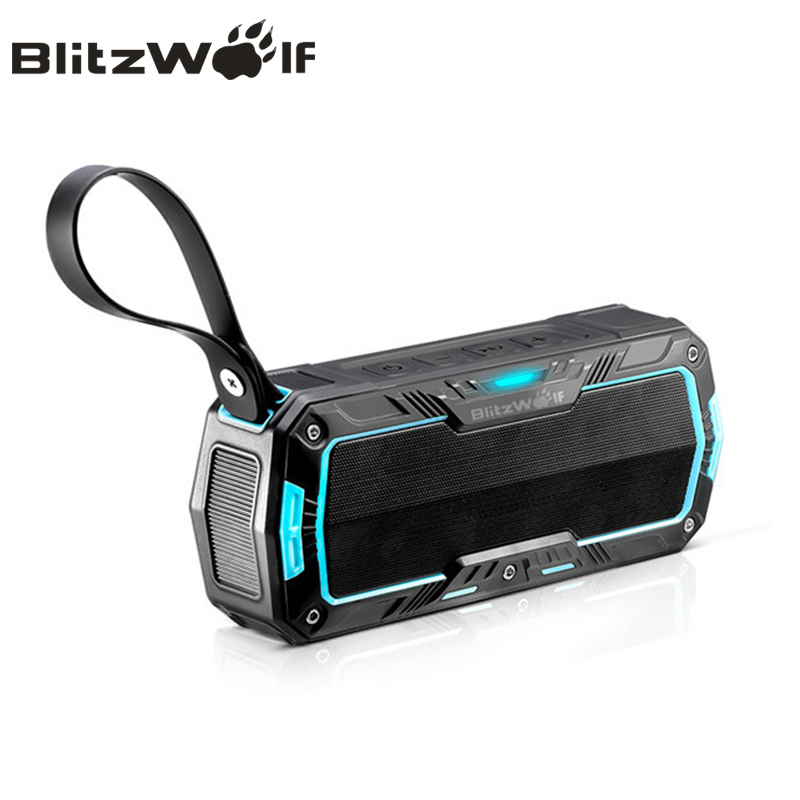 blitzwolf bluetooth speaker wireless portable stereo. Black Bedroom Furniture Sets. Home Design Ideas