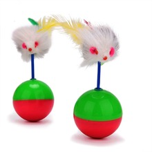 New Arrival Durable Pet Cat Toys Mimi Favorite fur Mouse Tumbler Kitten Plastic Play Balls for Catch Cats Supplies Toy