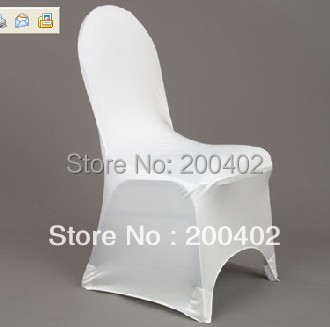 free shipping  100PCS   white polyester  spandex chair cover for banquet  weddings /lycra chair cover/banquet chair cover
