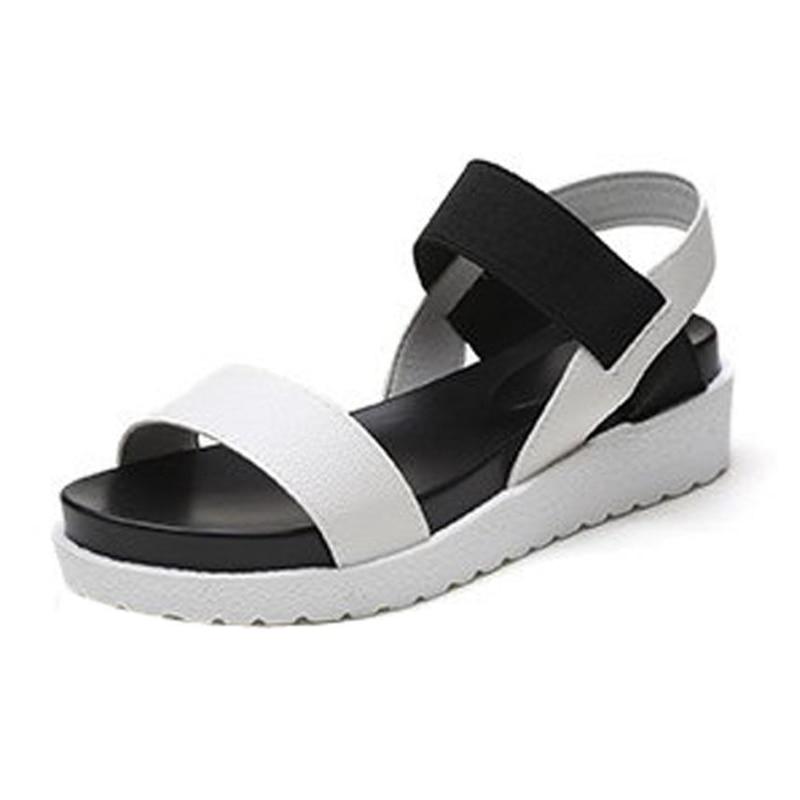 white De toe Sandalia silver Sandales Mode Romaines Femme Dames D'été Chaussures Feminina Bas Flops Black O050730 Femmes Peep Flip 0Ok8nPw