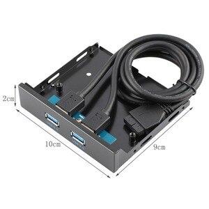 Image 5 - Connecteur USB 3.0, 20 broches, 2 Ports, panneau avant, support de contrôleur de moyeu Bay, support de câble Plug and Play disc interne