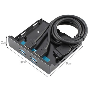 Image 5 - USB 3.0 Connector 20 Pin 2 Ports Front Panel Bay Hub Controller Bracket Cable Plug and Play Floppy Disk Internal