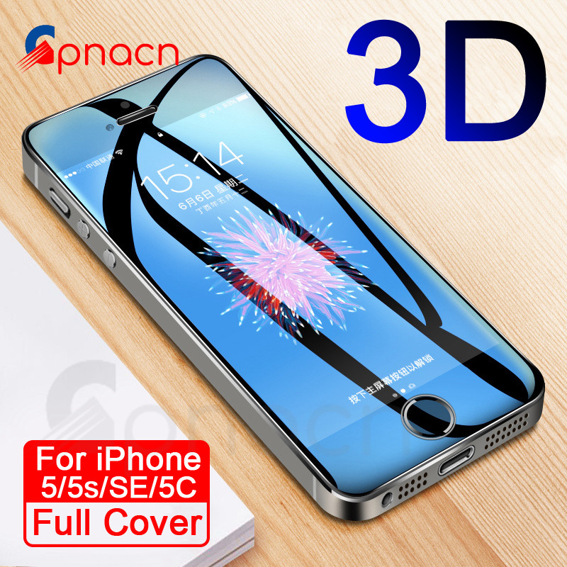 9H Anti-Burst Protective Glass On The For iPhone 5S SE 5C 5 Tempered Screen Protector Glass For iPhone 5S SE 4 4S Film Case(China)