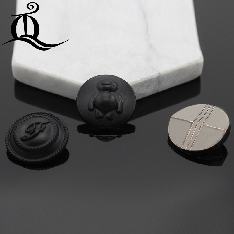 high quantity 25mm smooth blakc gold Metal Snap Fastener Press Stud Buttons Poppers Leather Craft Magnet Button bag Jeans Button
