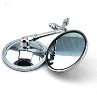 2pcs New Chrome Rear View Round Mirrors Motorcycle For Honda Motorcycle CB500 CB550 CB650 CB750 1970 2013
