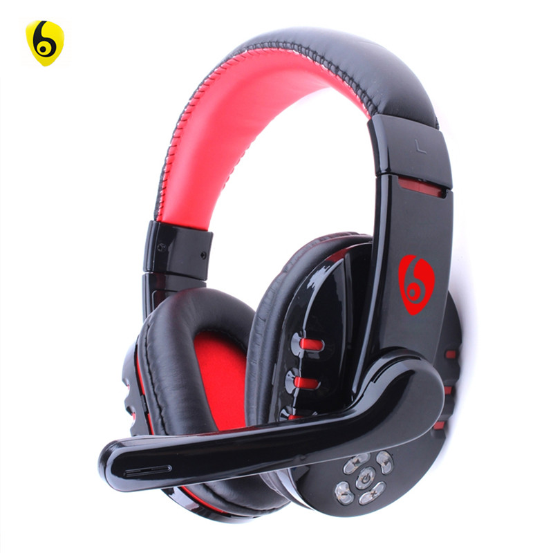 OVLENG V8-1 Wireless Auriculares Bluetooth Cuffie Stereo Over ear with Mic  for Gaming iPhone Samsung 4 5 6 Android Phone Black  3454d5e4c1ba