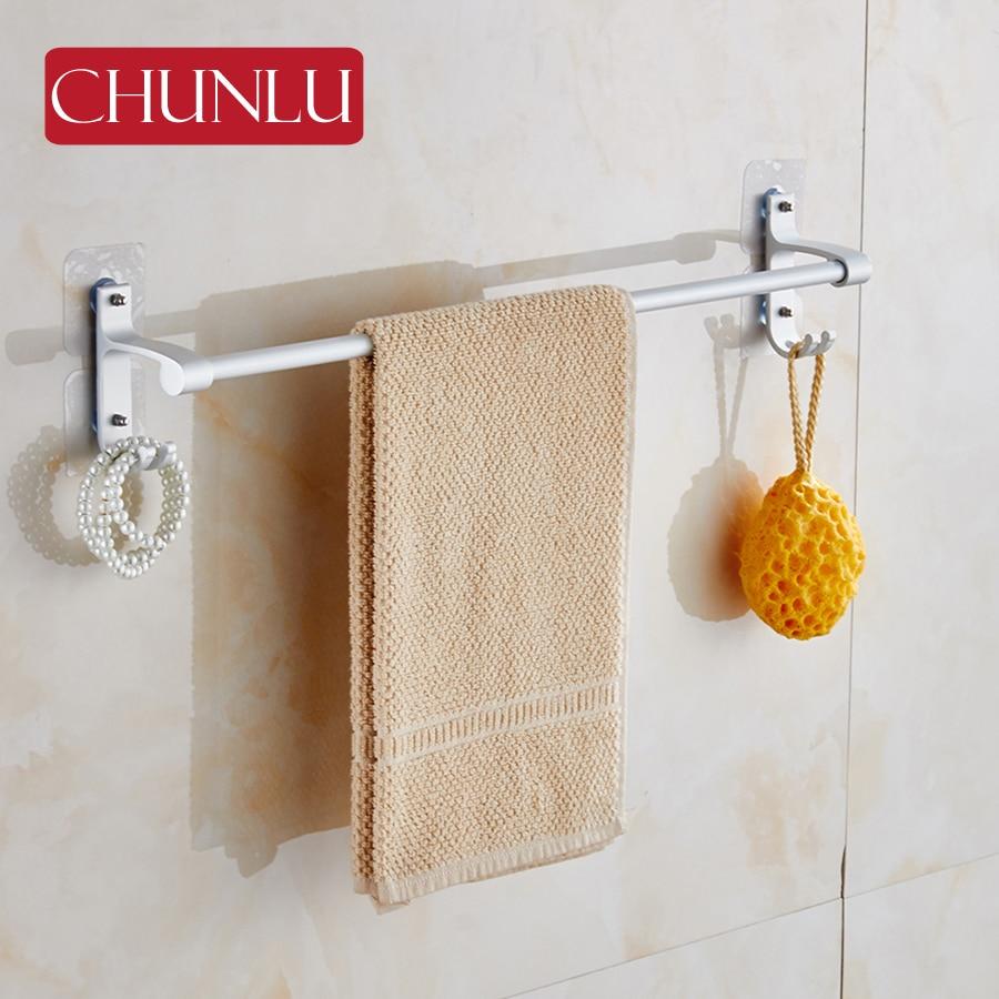 Rolled Towels In Bathroom: CHUNLU Multi Function Aluminium Bathroom Single Towel Rack