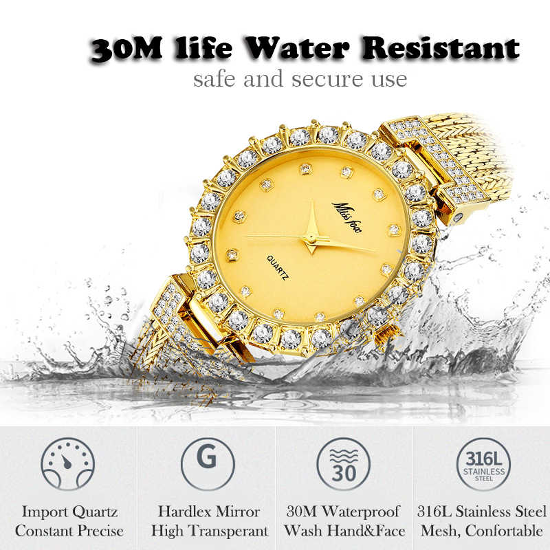 Женские часы люксовый бренд часы браслет водонепроницаемый дропшиппинг 2019 алмаз женские наручные часы для женщин кварцевые часы