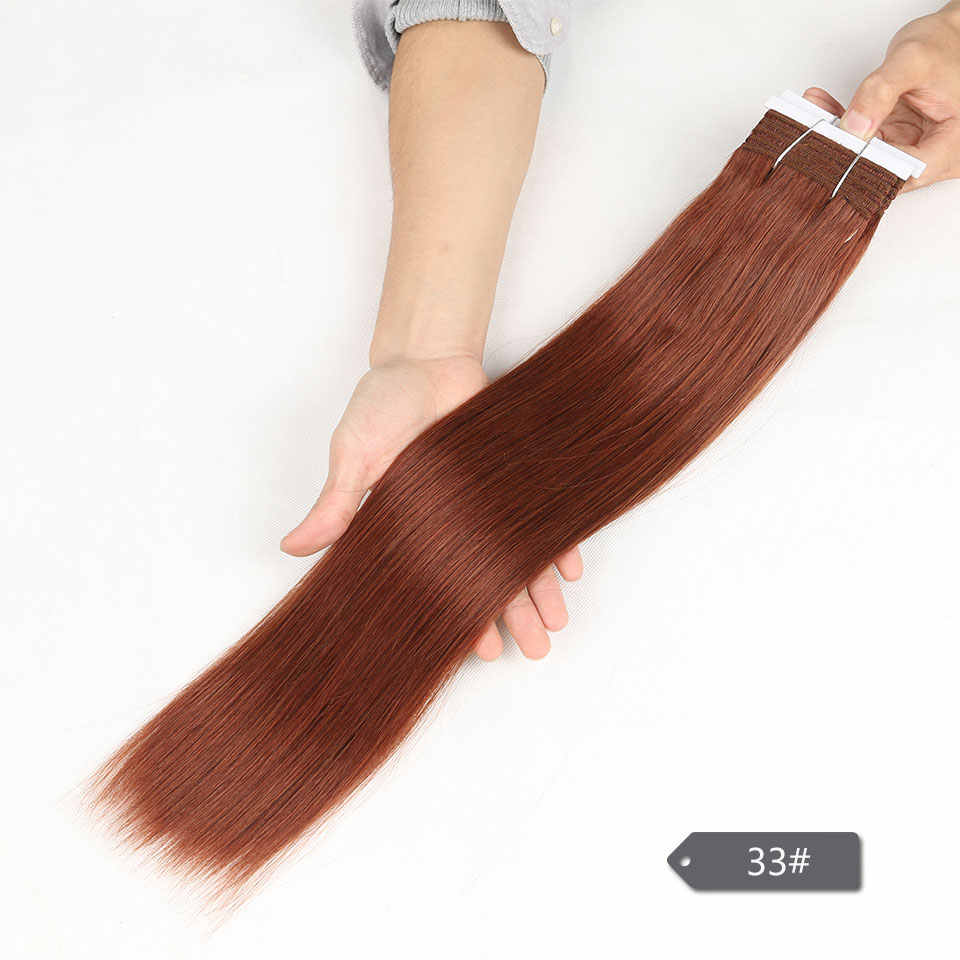 Sleek 113G Ein Stück Freies Verschiffen Honig Doppel Gezogen Brazilian Seidige Gerade Menschenhaar Weben Bundles Remy Haar Extensions