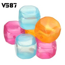 12 Pcs/lot Ice Cubes Food-grade Plastic Fruit-Shaped Reusable Plastic Multicolour Cool Cold Drinkware Bar Barbecue Party Tool