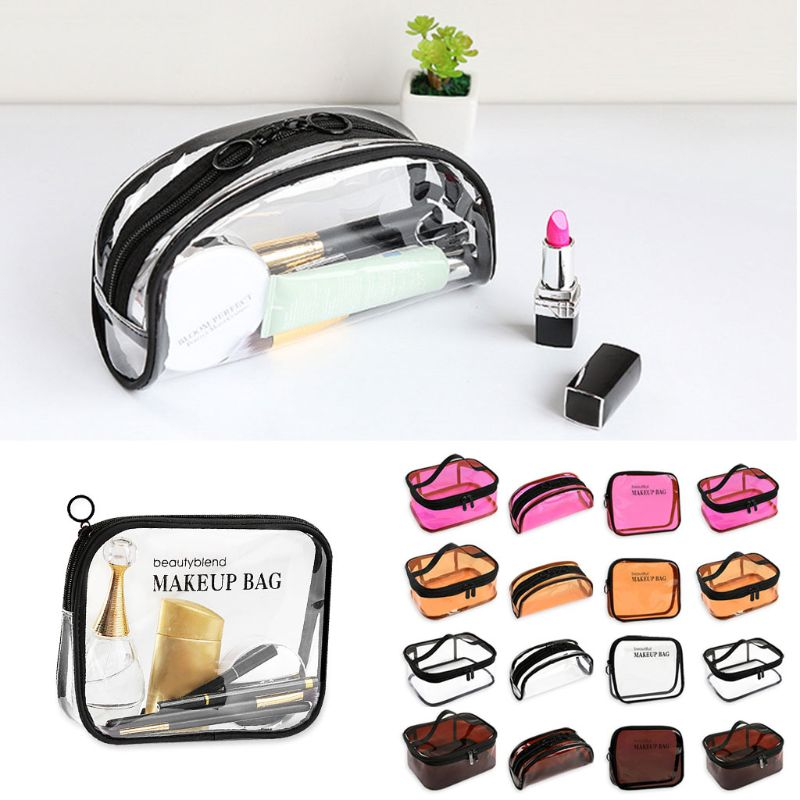 Multifunction Women Transparent Purse Cosmetic Travel Toiletry Case Pouch Makeup Wash Bag in Cosmetic Bags Cases from Luggage Bags