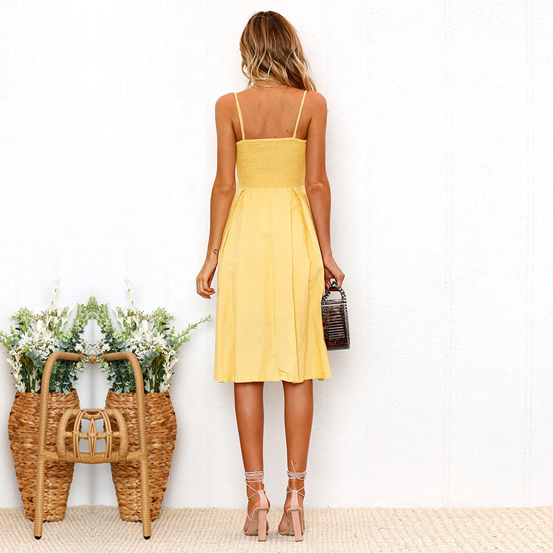 Backless Bow Hollow Out V Neck Sexy Party Dress Spaghetti Strap Sleeveless Long Maxi Women Summer Dress 2019 Beach Vestidos Robe in Dresses from Women 39 s Clothing