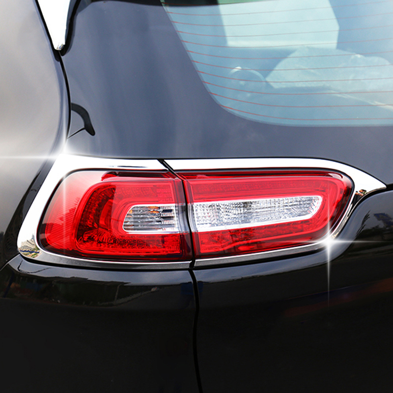 Image 2 - For Jeep Cherokee KL 2014 2015 2016 2017 2018 Rear Trunk Chrome Cover Trim Molding Accessories Car Styling Decoration Sticker-in Chromium Styling from Automobiles & Motorcycles