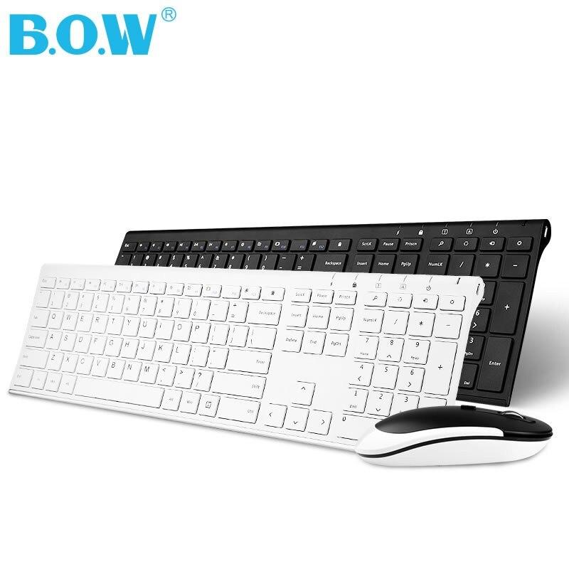 Livraison gratuite ultra-mince charge clavier et souris ensemble ordinateur de bureau portable bureau à domicile avec souris et clavier sans fil