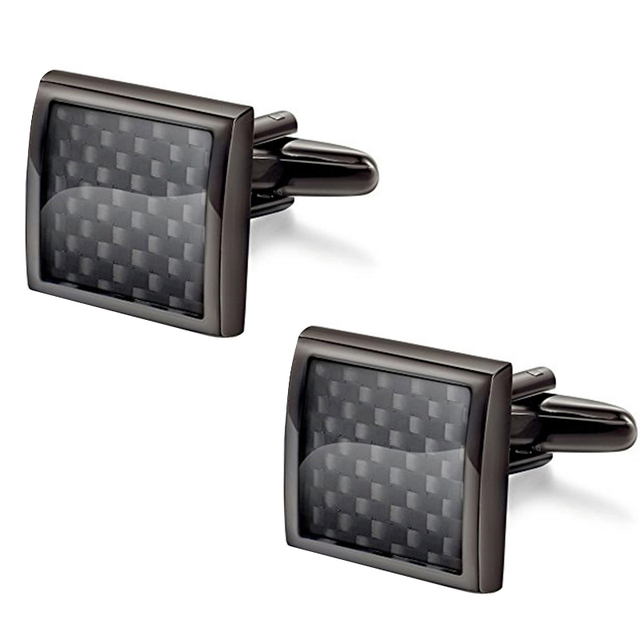 Carbon Fiber  High Quality Cufflinks