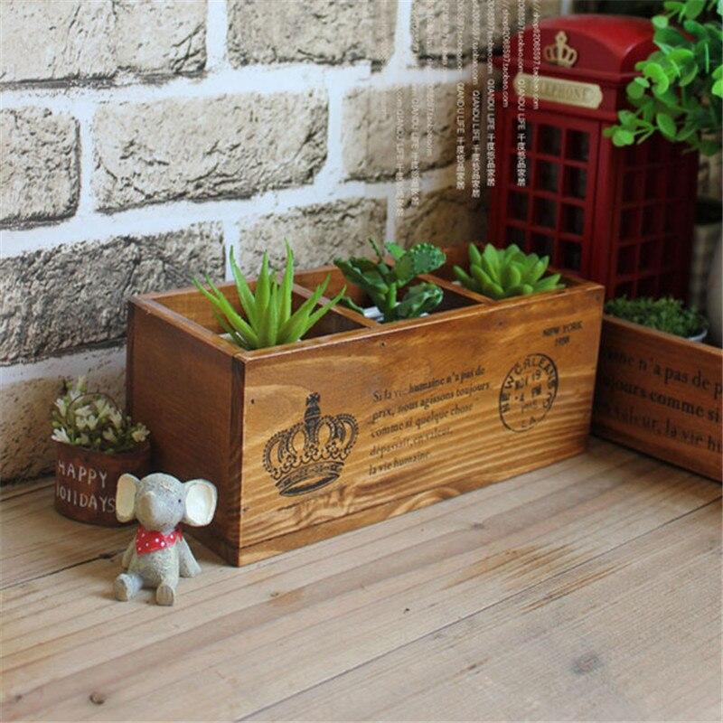 nuevo estilo de botella de de cajas de de escritorio de madera titular macetas