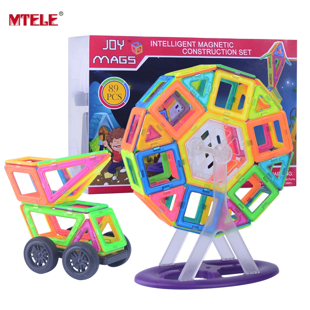 MTELE Brand Magnetic 89pcs magnetic designer kits Building Models Toy with Windmill Car Enlighten Plastic Toy High Quality magnetic 77 82 89pcs magnetic kits building models toy with windmill car enlighten plastic educational for toddlers yoyo diy