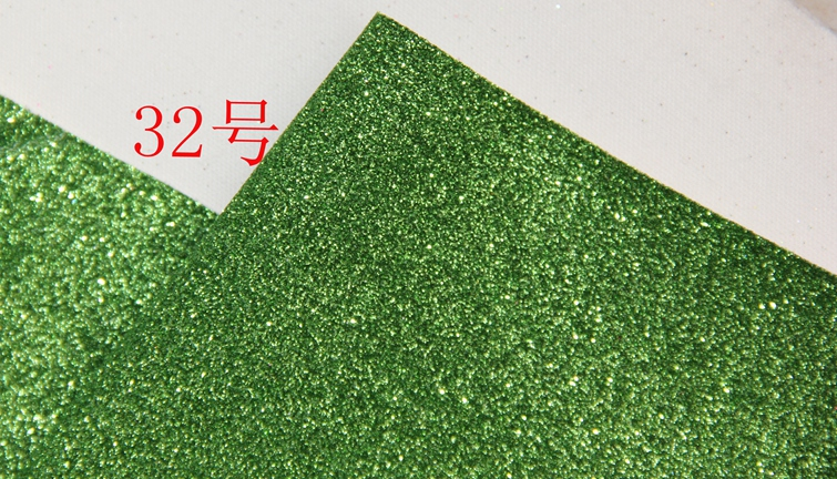 green Synthetic PVC glitter leather vinyl fabric material