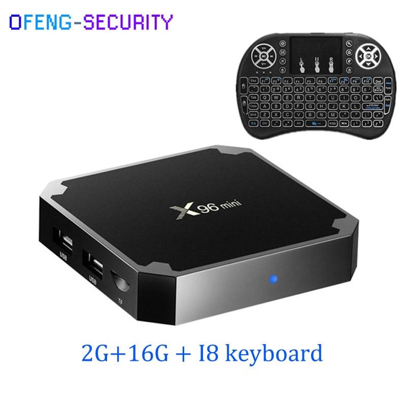 X96 Mini Android 7.1.2 With I8 Keyboard Amlogic S905W Quad Core Smart TV Box 2GB 16GB 4K H.265 WiFi 2.4GHz LAN 100M IPTV