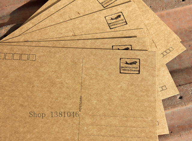 10 sheetspack plain kraft paper post card blank white postcards 10 x 14cm