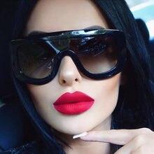Новые уникальные женские солнцезащитные очки Квадратные очки винтажные большие оправы Солнцезащитные очки ацетатные оттенки градиентные ...