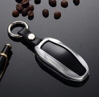 Hohe Qualität Auto Aluminium Legierung Schlüssel Halter Abdeckung Fall Für Tesla Modell 3 Keychain Schlüssel Tasche Brieftasche Shell Protector Schlüssel tasche