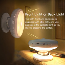 LED PIR Body Motion Sensor Activated Night Light Wall Light with Detachable Magnetic Base led Sensor Light for Wardrobe Cabinet(China)