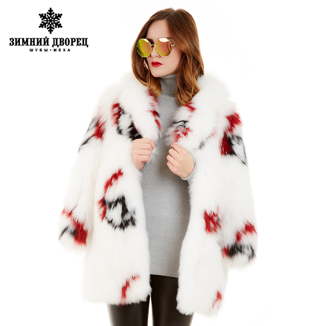 2016 popular style cartoon decorative pattern fox coat fox  popular style fur coats for women designer style fox fur winter coat
