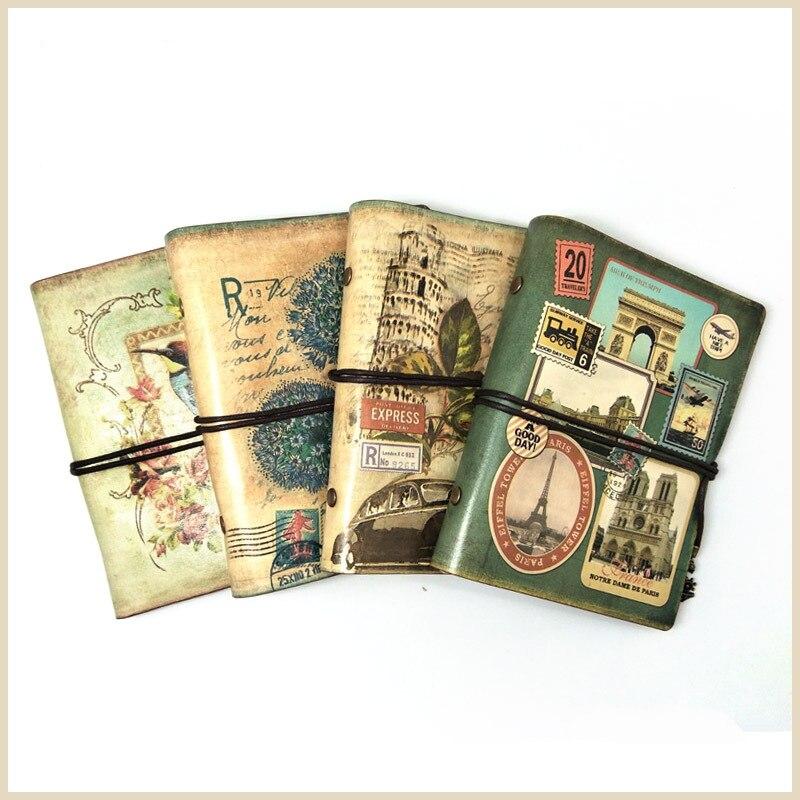 MIRUI Vintage PU Leather Notebook Creative Kraft Paper Planner Sketchbook Agenda Filofax Travelers Diary Journal Notebooks