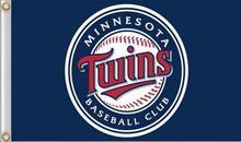 Minnesota Twins Flag Flag 90×150 cm Sport Outdoor Brass Metal Hole Sport MLB flag 3X5FT Flag