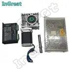 Worm Versnellingsbak RV030 Ratio50: 1 ~ 80: 1 + Nema23 Stappenmotor 100MM 2.5NM + DM556 Drive 5.6A + 200W Voeding Kit Converteren 90 graden - 1