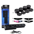 PS4 Vertical Bracket Stand W/5x Turbo Cooling Fans +4 x LED Light Bar Stickers + 8x Silicone caps for Playstation 4 PS4 Console