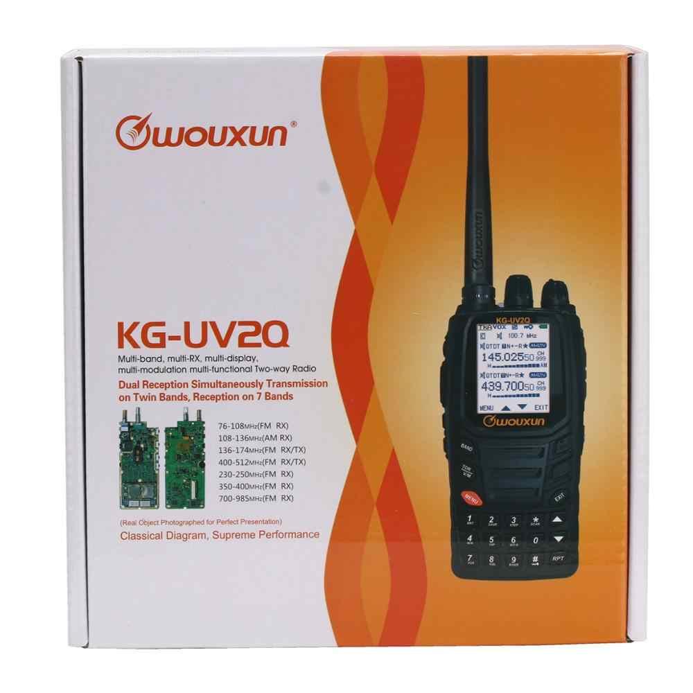 Wouxun KG-UV2Q 8 W haute puissance 7 bandes, y compris bande d'air répéteur de bande croisée talkie-walkie mise à niveau KG-UV9D Plus Radio jambon