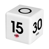 Ev ve Bahçe'ten Mutfak Zamanlayıcıları'de Yeni saat zamanlayıcı Alarm  kare dijital 5 15  30 60 dakika zaman yönetimi oyun eğlence beyaz